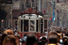 Old tram in Istanbul, Turkey Stock Photo
