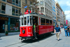 Old tram in Istanbul, Turkey Royalty Free Stock Image