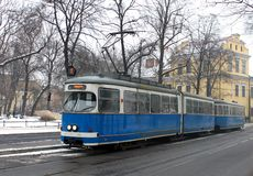 Old tram in Krakow royalty free stock image