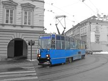 Old tram in Krakow Stock Image
