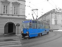 Old tram in Krakow stock image