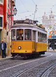 Old Tram in Lisbon Stock Photo