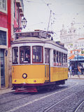Old Tram in Lisbon Stock Photography
