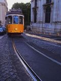 Old Tram in Lisbon Stock Photos