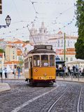 Old Tram in Lisbon Royalty Free Stock Image
