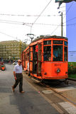 Old Tram in Milan Italy Stock Photography