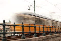 Old Tram in motion blur Royalty Free Stock Photo