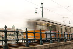 Old Tram in motion blur Stock Image