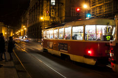 Old tram in motion blur Royalty Free Stock Photos