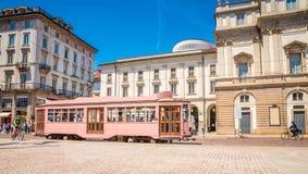Free Old Tram Near Teatro La Scala-  Famous Opera House In Milan, Italy Royalty Free Stock Image - 182078216