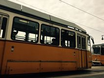 Old tram. Nostalgic trams in Budapest Stock Photos