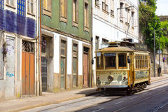 Old tram in the old city Royalty Free Stock Photography