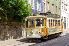 Old tram in the old city Stock Photos