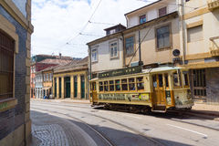 Old tram in the old city Royalty Free Stock Image