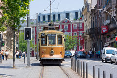 Old tram in the old city Royalty Free Stock Photos