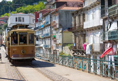 Old tram in the old city Stock Image
