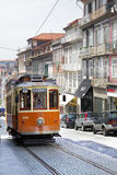 Old tram in Porto Stock Photography