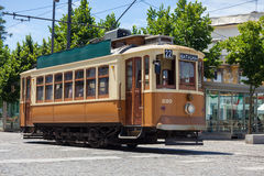 Old tram in Porto, Portugal Royalty Free Stock Photos