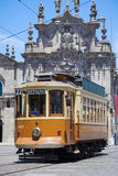Old tram in Porto, Portugal Royalty Free Stock Photography