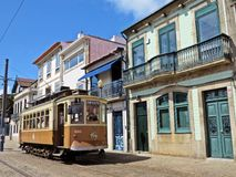 Old tram in Porto Royalty Free Stock Images