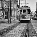 Old tram in Porto, Portugal Royalty Free Stock Photo
