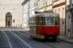 Old tram in prague Stock Image