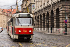 Old tram in Prague. Czech Republic Royalty Free Stock Images