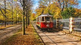 Old Tram, Prague, Czech Republic. Old Tram in Autumn, Prague, Czech Republic Royalty Free Stock Photography