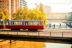 Old tram on the Schweden Royalty Free Stock Images