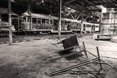 Old Tram shed Royalty Free Stock Photos