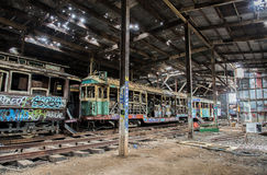 Old Tram shed Stock Photography