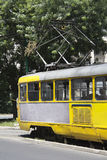 Old tram on a street Royalty Free Stock Photo