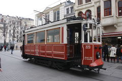 Old tram in Taksim square Istanbul Royalty Free Stock Photography