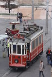 Old tram in Taksim square Istanbul Royalty Free Stock Photo