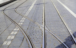 Old tram tracks Royalty Free Stock Photo