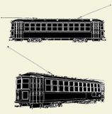 Old Tram Trolley Vector 01 Royalty Free Stock Image