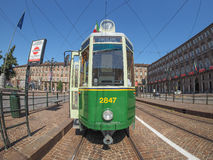 Old tram in Turin Stock Images