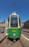 Old tram in Turin Royalty Free Stock Photo