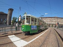 Old tram in Turin Royalty Free Stock Images