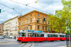 Old tram in Vienna Stock Image