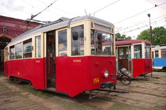 Old tramcars Royalty Free Stock Photography