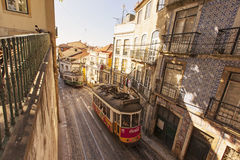 Old trams, Lisbon, Portugal Royalty Free Stock Image