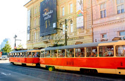 Old Tramway - Bratislava Royalty Free Stock Images