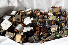 Old transformer garbage Stock Photography