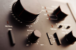 Old transistor amplifier Stock Photography