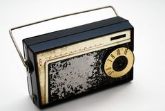 Old Transistor Radio. An old transistor radio, from the 1950's-1960's in very used condition royalty free stock photo