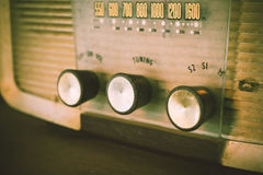 Old transistor radio analog dial button. Royalty Free Stock Photos