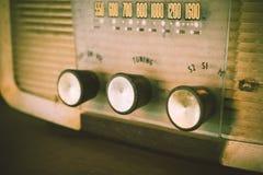 Old transistor radio analog dial button. Royalty Free Stock Photos