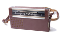Old Transistor Radio isolated. On the white Royalty Free Stock Image