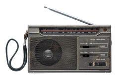 Old transistor radio isolated on white background. Royalty Free Stock Photos